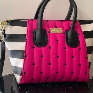 Luv Betsey handbag with embroidered hearts